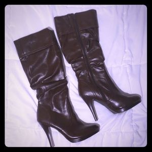 Worthington |  Brown Slouch Heeled Boots